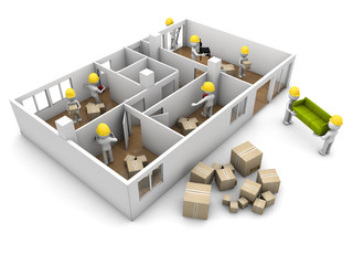 house moving and reform concept