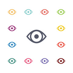 eye flat icons set.