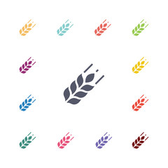 agriculture flat icons set.