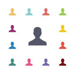 profile flat icons set.