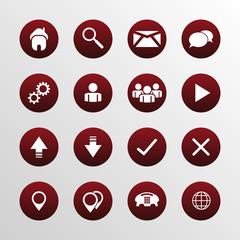 Web design flat icons set