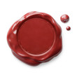 Wax seal isolated red