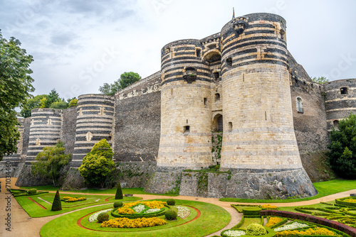 Tuinposter Vestingwerk Bastions of fortress in Angers