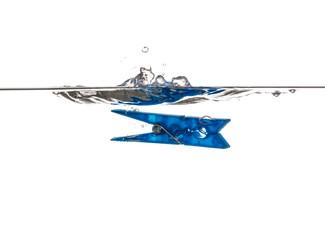 Blue Clothespin  underwater