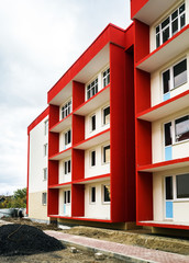 New typical economy apartments building