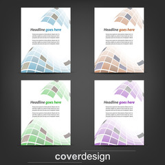 Set of corporate flyer, poster template or cover design