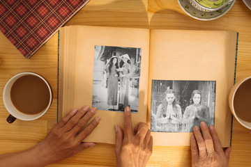 Black-and-white photos