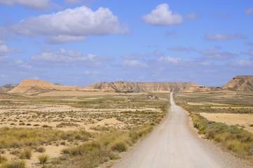 Road in desert - Bardenas Reales - Spain