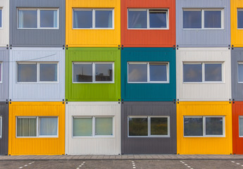 Colorful Apartment Building