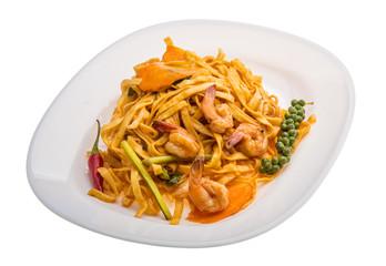 Fried noodles with shrimps
