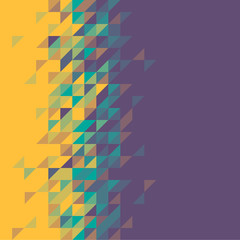 triangle abstract background - vector illustration