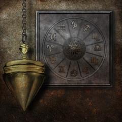 Zodiac Metallplatte Pendel