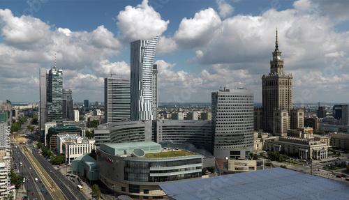 fototapeta na ścianę Warszawa, Widok Centrum