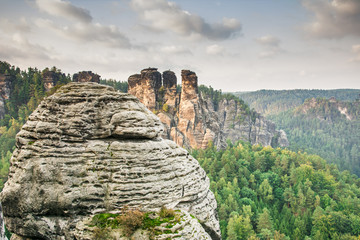Sandstone Mountains in Saxony