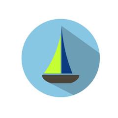 векторная иконка яхта
