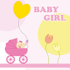 baby girl birthday card
