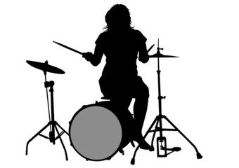 Drum kit and women