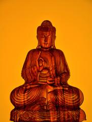 yellow sitting buddha