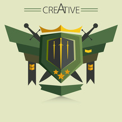 Abstract logo create soldier style