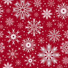Snowflakes Christmas seamless pattern - illustration