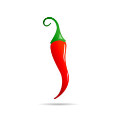 Vector logo red chili
