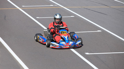 racing track  Go-kart close to
