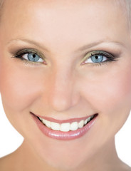 Portrait of young pretty face of a caucasia