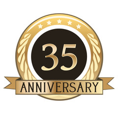 Thirty Five Year Anniversary Badge