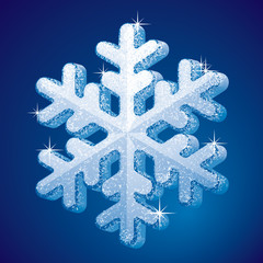 Frosted snowflake