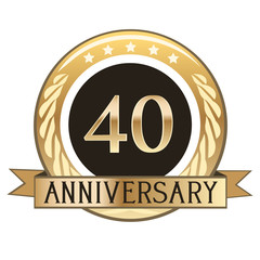 Forty Year Anniversary Badge