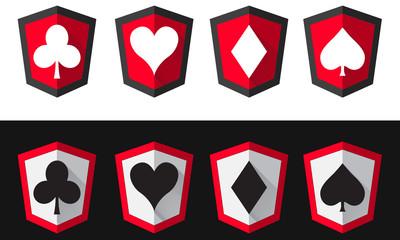 Poker Shield Icons
