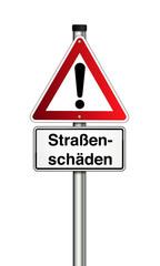 Verkehrszeichen Straßenschäden Gefahr