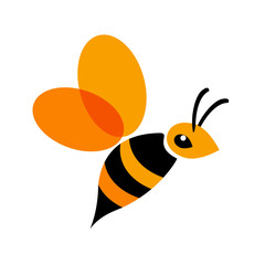Vector logo bee
