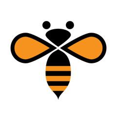 Vector logo bee