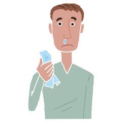 男性 風邪 鼻水