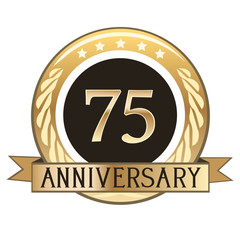 Seventy Five Year Anniversary Badge