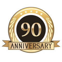 Ninety Year Anniversary Badge