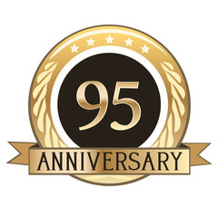 Ninety Five Year Anniversary Badge