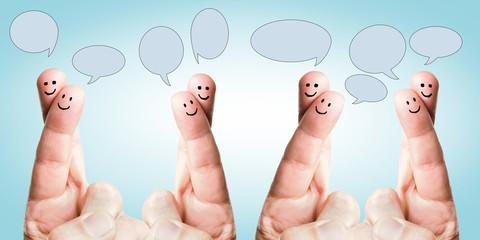 sprechende glückliche Finger