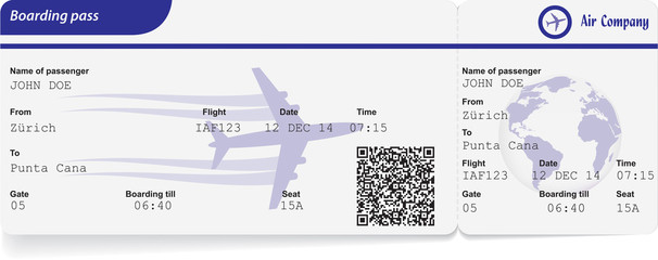 Variant of boarding pass