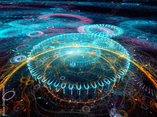 Colorful future technology