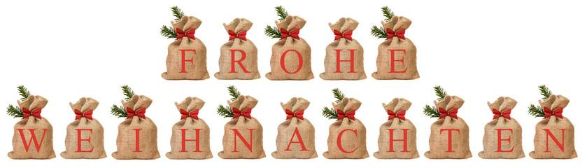 Nikolaussäckchen - Frohe Weihnachten