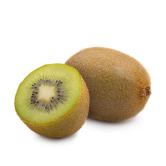 Studio shot of fresh natural kiwi isolated on white