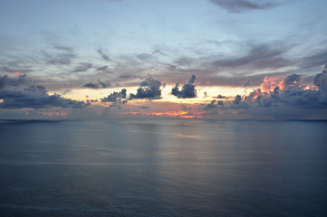 The stunning landscape - sea, sunset, clouds.