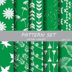 green nature pattern set