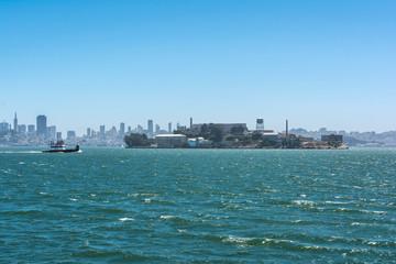 Alcatraz and the skyline of San Francisco