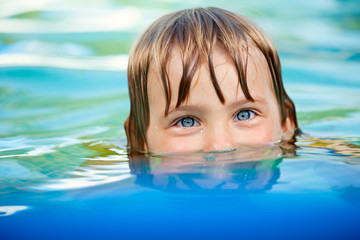 Child in a pool