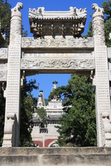 "The gate to the temple, ""Azure Clouds"""