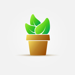 Bright houseplant vector icon