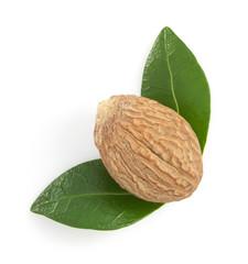 nutmeg on white